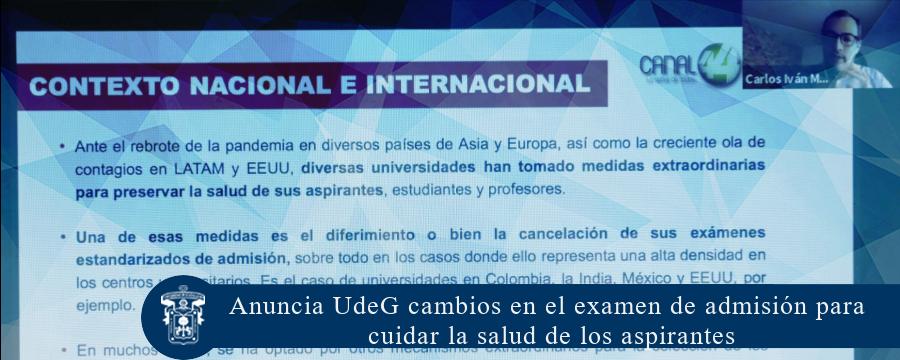Anuncia UdeG cambios en el examen de admisión