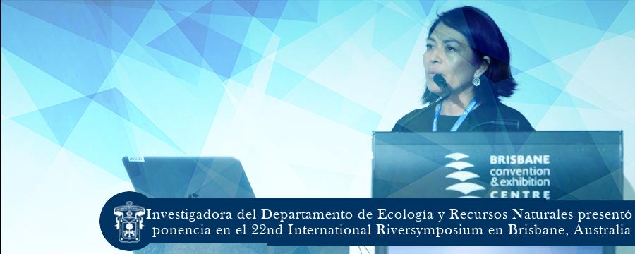nvestigadora del DERN presentó ponencia en el 22nd International Riversymposium