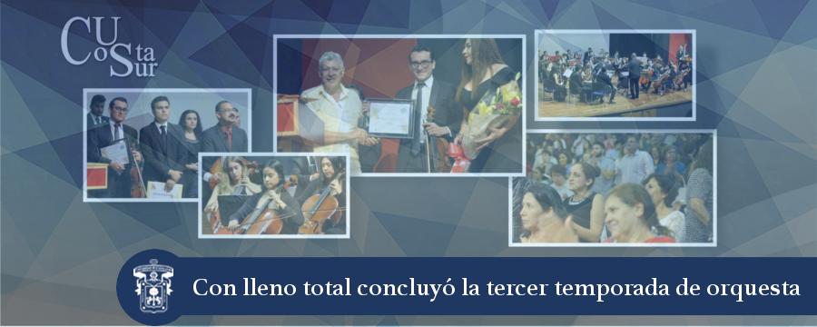 Banner: Concierto de clausura 3er temporada orquesta sinfónica