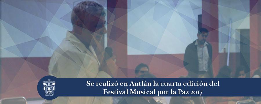 Banner: festival musical por la Paz