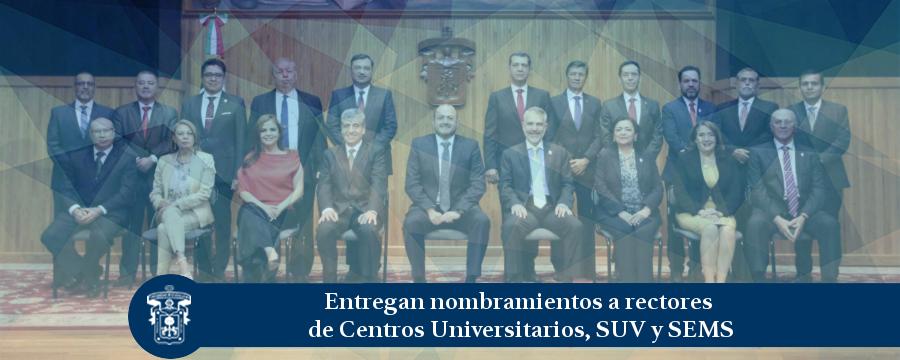 Banner: Entregan nombramientos a rectores
