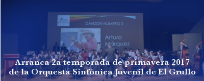 Banner: Segunda temporada de primavera 2017 Orquesta Sinfónica