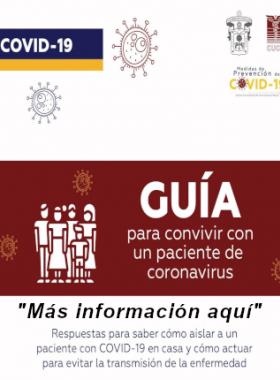 Guia para convivr con un paciente de coronavirus