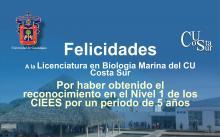 Nota: Acreditación Biología Marina