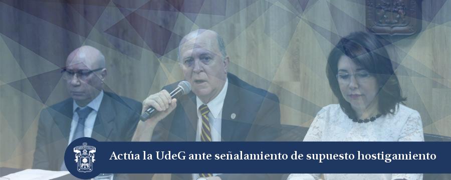 Banner: Actúa la UdeG ante señalamientos de supuesto hostigamiento